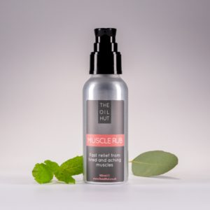 The Oil Hut 100% Natural Muscle Rub Oil For Fast Relief From Aching And Tired Muscles