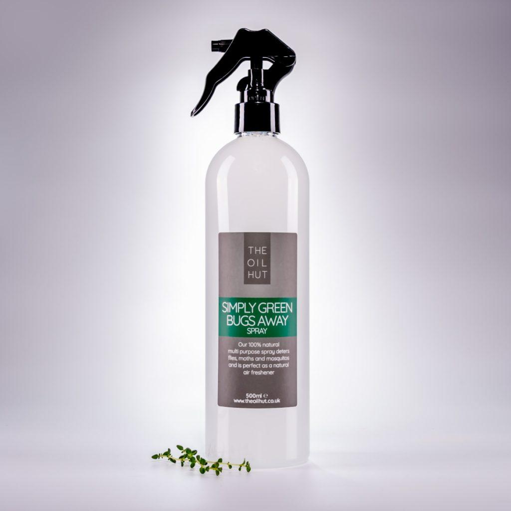 The Oil Hut Bugs Away Simply Green Spray Air Freshener